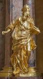 Wien - den sned polychomestatyn av profeten i kyrka för barockst Annes från 17 cent Royaltyfria Foton