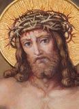 Wien - detaljen från freskomålning av Resurrected Kristus i den Carmelites kyrkan i Dobling från börjar av. cent 20. vid Josef Kas arkivbild