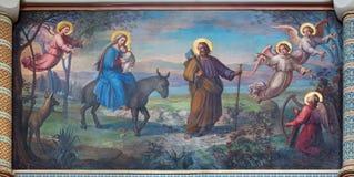 Wien - Flug der heiligen Familie nach Ägypten lizenzfreie stockfotografie
