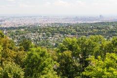 Wien från utkanten arkivfoto