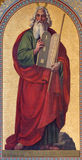 Wien - Fresko von Mosese durch Joseph Schonman von Jahr 1857 in Altlerchenfelder-Kirche stockbilder