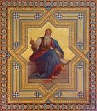 Wien - freskomålning av Amos-profeter av Karl von Blaas royaltyfria foton