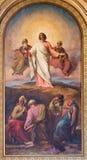 WIEN: Freskomålning av Moses för faraoplatsen från 19 cent cent 19 Royaltyfria Foton