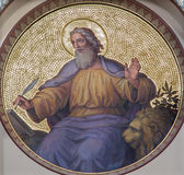 Wien - freskomålning av St Mark evangelisten Royaltyfria Foton