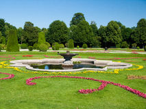 Wien garden with fountain Stock Photos