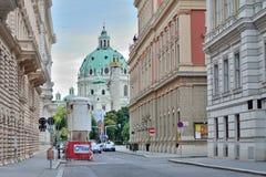 Wien gata arkivfoto