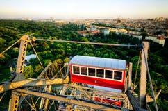 Wien gesehen vom Prater Riesenrad stockbild