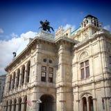 Wien gränsmärke arkivbild