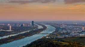 Wien horisont royaltyfria bilder