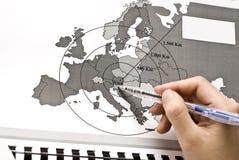 Wien - il centro di Europa sul programma immagini stock