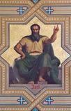 WIEN - JULI 27: Freskomålning av Amos-profeter av Carl von Blaas från 19 cent cent 19 Arkivfoton