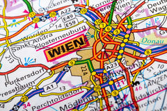 Wien map Royalty Free Stock Images