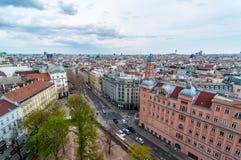 Wien - mening vanaf de bovenkant Stock Fotografie