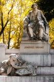 Wien monument av Johannes Brahms royaltyfri fotografi