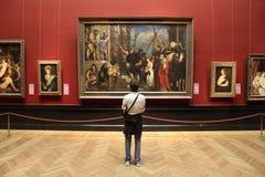 Wien museumbesökare Arkivbild