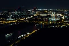 Wien nachts stockbild