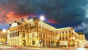 Wien - Opernhaus stock footage