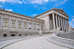 Wien-Parlament Stockbild