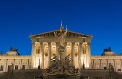 Wien parlament Royaltyfri Foto