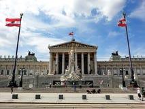 Wien parlamentbyggnad, Wien, Österrike Royaltyfria Bilder