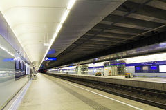 Wien railway station. The new main railway station in wien Stock Images