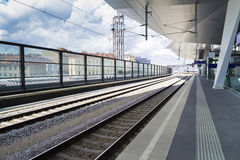 Wien railway station. The new main railway station in wien Royalty Free Stock Images