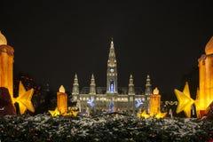 Wien Rathaus Arkivfoto