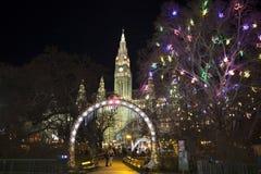 Wien-Rathaus - Parkeingang Stockfotografie