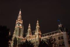 Wien Rathaus/stadshus arkivfoton