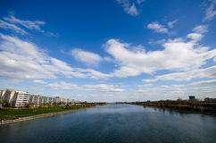 Wien river in Vienna Royalty Free Stock Photo