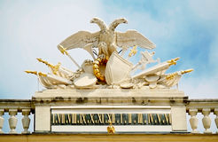 Wien.Schonbrunn palace. Statue in the Schonbrunn Palace, in Vienna royalty free stock photos