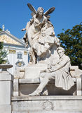Wien - Schreiber Ferdinand Raimund-Denkmal durch Franz Vogl stockfotografie