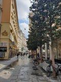 Wien shoppar gatan fotografering för bildbyråer