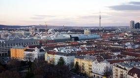 Wien sikt Arkivfoto