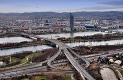 Wien-Skyline Lizenzfreie Stockfotos
