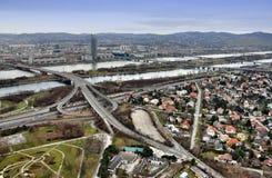 Wien-Skyline Stockfotografie