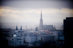Wien-Skyline im Winter Lizenzfreies Stockbild