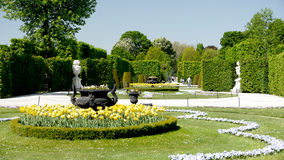 Wien slottträdgård royaltyfri foto