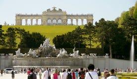 Wien slottträdgårdar Arkivfoto