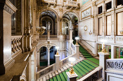 Wien Staatsoper hallway. View of the main staircase in the hallways of Vienna`s opera house, from the first loggia Royalty Free Stock Images
