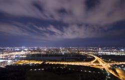 Wien stad på natten Arkivbilder