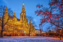 Wien stadshus Fotografering för Bildbyråer
