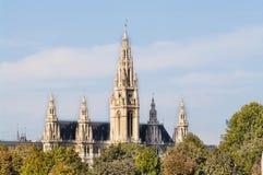 Wien stadshus Arkivbild