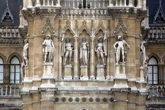 Wien stadshus som bygger Rathaus Royaltyfri Foto