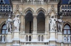 Wien stadshus som bygger Rathaus Arkivbilder