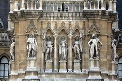 Wien stadshus som bygger Rathaus Arkivfoto