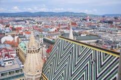 Wien stadspanorama Arkivbilder
