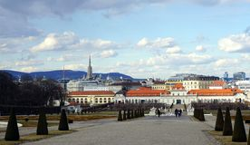 Wien stadssikt royaltyfri fotografi