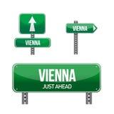 Wien stadsvägmärke Royaltyfri Fotografi