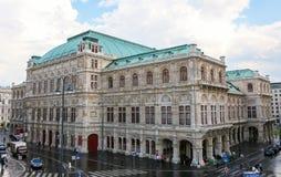 Wien statopera eller frankfurterkorv Staatsoper i Österrike Royaltyfri Fotografi